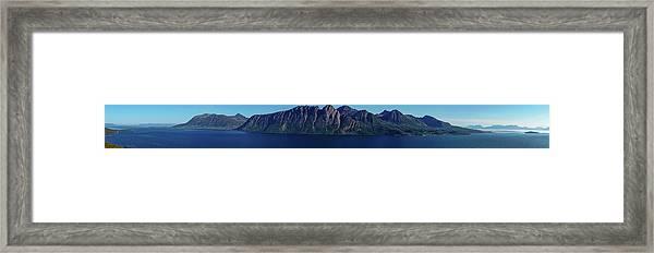 Sunset In Norway In Lofoten Island Framed Print