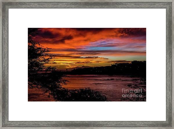 Sunset In Praia, Cape Verde Framed Print
