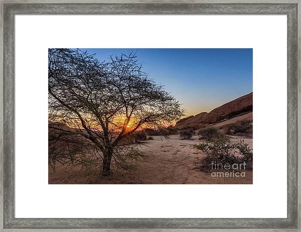 Sunset In Spitzkoppe, Namibia Framed Print