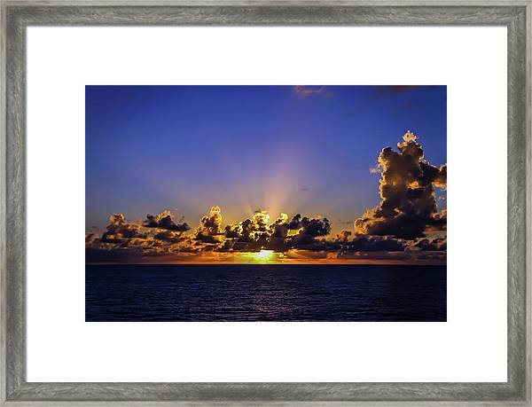 Framed Print featuring the photograph Sunset In The Bahamas by Dawn Richards