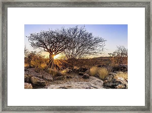 Sunset In The Erongo Bush Framed Print