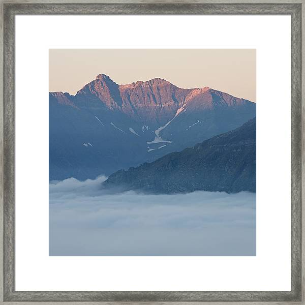 Sunset In The Pyrenees Framed Print