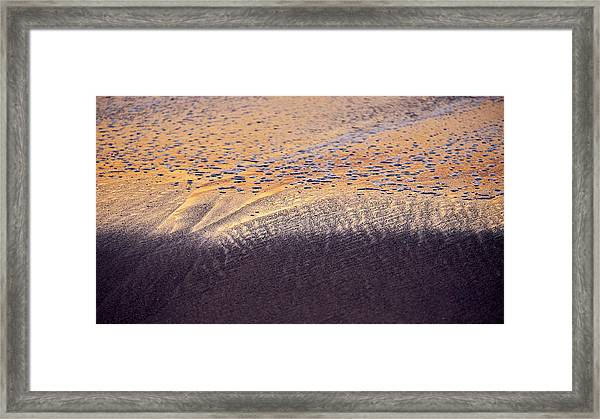 Framed Print featuring the photograph Sunset In The Sand by Whitney Goodey