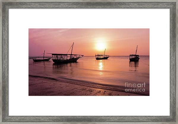 Sunset In Zanzibar Framed Print