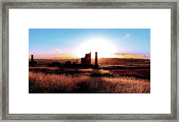 Sunset. Magpie Mine. Framed Print