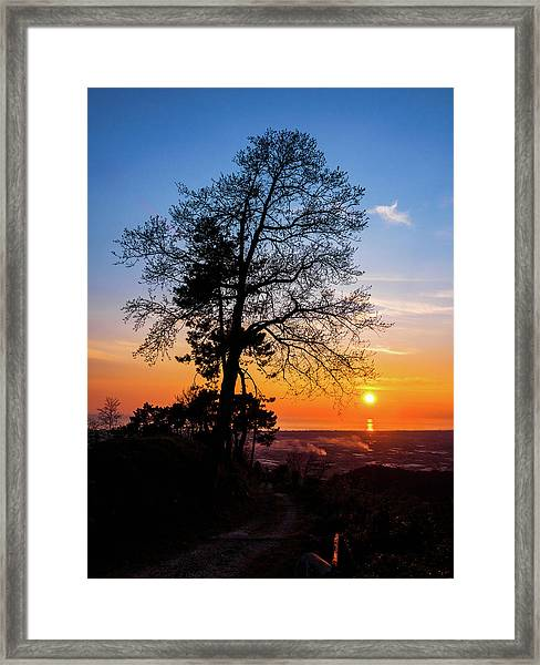 Sunset - Monte D'oro Framed Print