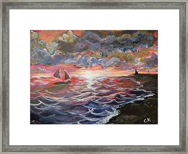Sunset Of The Sea Framed Print