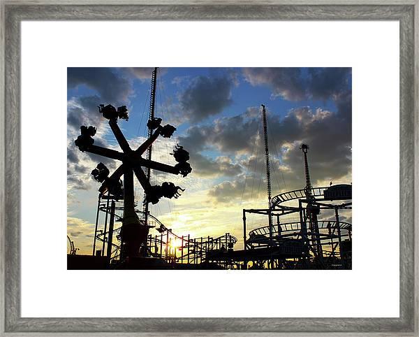 Sunset On Coney Island Framed Print