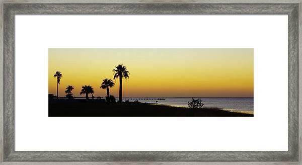 Sunset On Copano Bay, Texas Framed Print