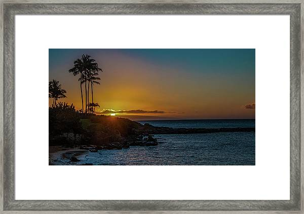 Sunset On Kapalua Framed Print