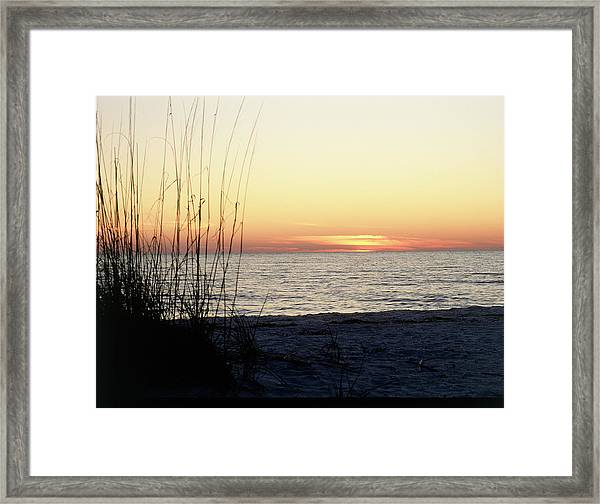 Sunset On Sanibel Island, Gulf Coast Of Framed Print