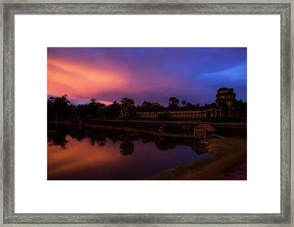 Sunset Over Angkor Wat Framed Print