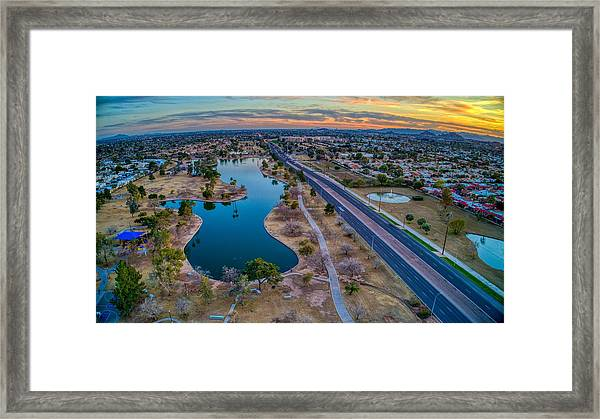 Sunset Over Chaparral  Framed Print