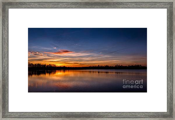 Sunset Over Laupheim Quarry Framed Print