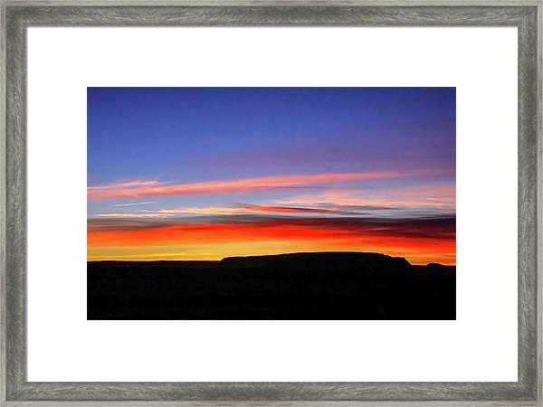 Sunset Over Navajo Lands Framed Print