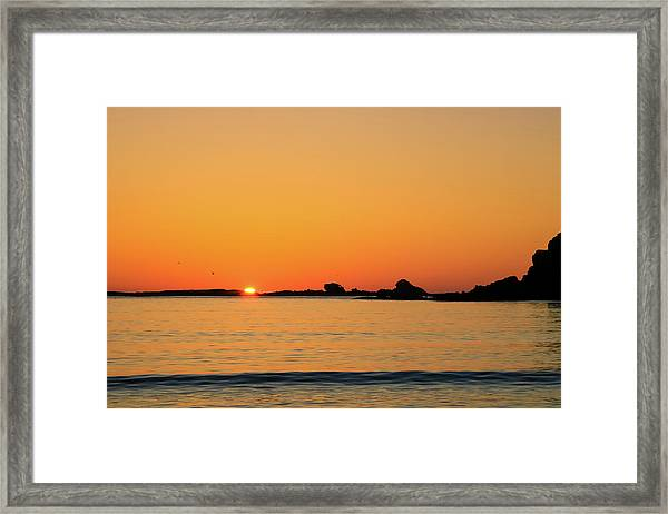 Framed Print featuring the photograph Sunset Over Sunset Bay, Oregon 4 by Dawn Richards