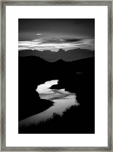 Sunset Over The Rio Grande Framed Print by Kim Kozlowski Photography, Llc