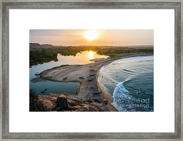 Sunset Seen From Elephant Rock Near Framed Print