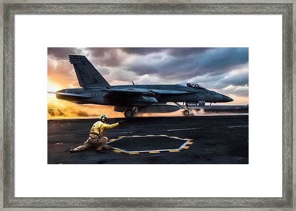 Sunset Shooter Framed Print