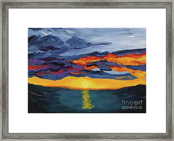 Sunset Streak Framed Print