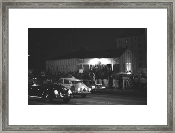 Sunset Strip Curfew Riots Framed Print