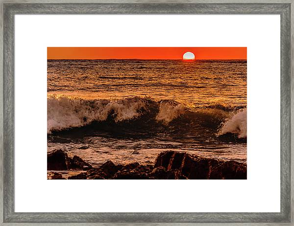 Sunset Wave Framed Print