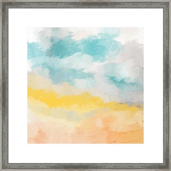 Sunshine Day- Art By Linda Woods Framed Print