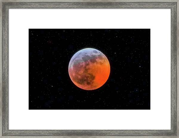 Super Blood Moon Eclipse 2019 Framed Print