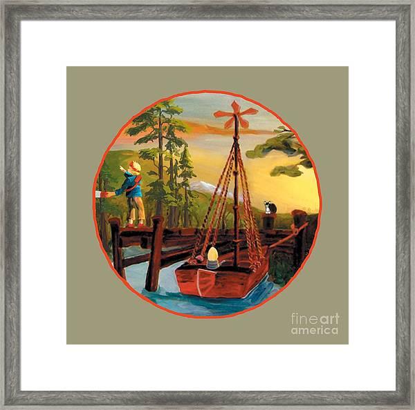 Super Boat Overlay Framed Print
