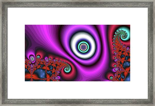 Super Hurricane Eye Magenta Framed Print