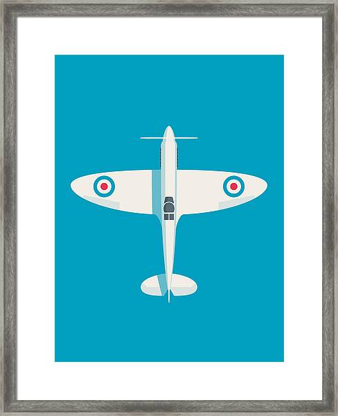 Supermarine Spitfire Wwii Raf Fighter Aircraft Framed Print