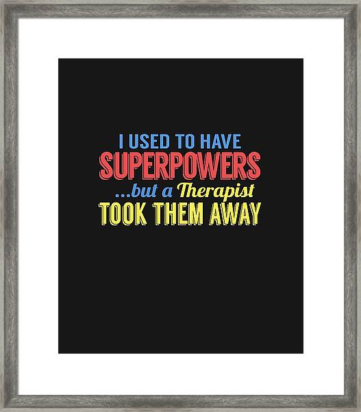 Superpowers Framed Print
