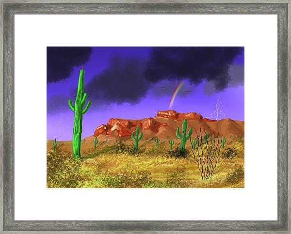 Superstition Splendor Framed Print