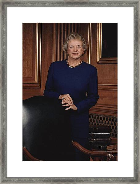 Supreme Court Justice Sandra Day Oconnor Framed Print
