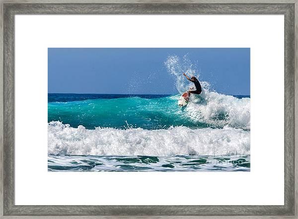 Surfer In Baja California. Mexico Framed Print