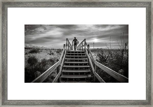 Framed Print featuring the photograph Surfer by Steve Stanger