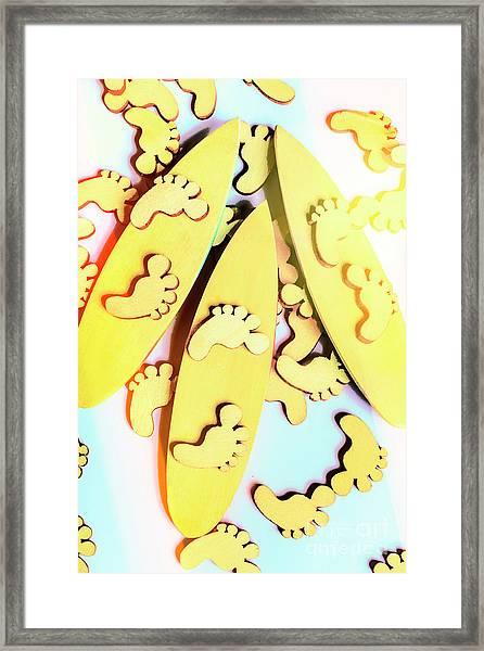 Surfing Pop Framed Print