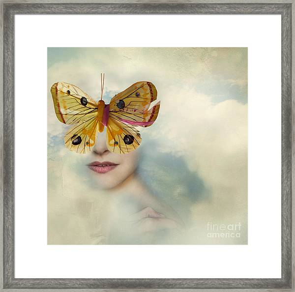 Surreal Image Representing A Female Framed Print