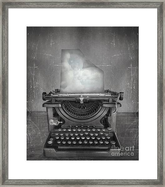 Surreal Imagine In Black And White Of A Framed Print