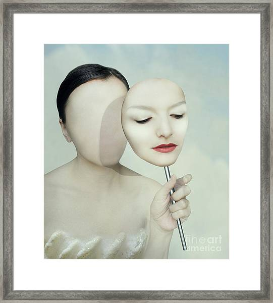 Surreal Portrait Of A Woman Faceless Framed Print