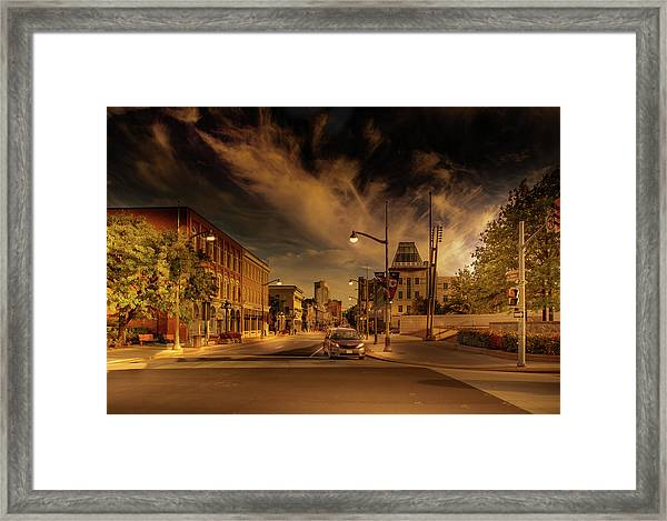 Framed Print featuring the photograph Sussex Dr by Juan Contreras