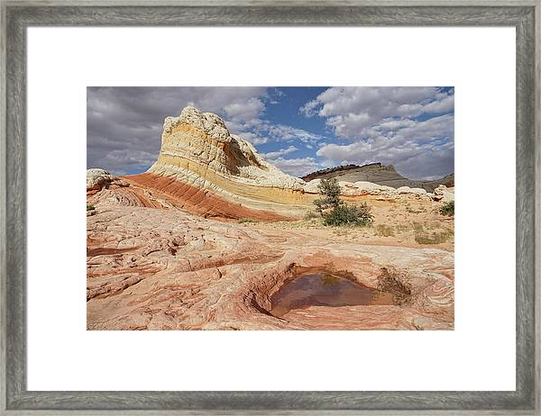 Sweeping Structures In Sandstone Framed Print