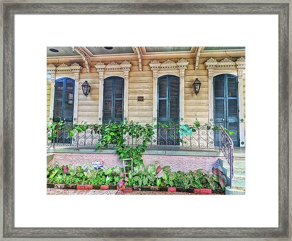 Sweet Cream And Ivy Framed Print