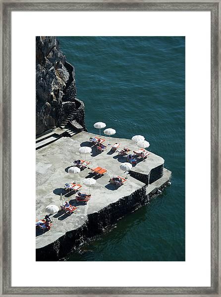 Swimming Deck Of Hotel San Pietro Framed Print