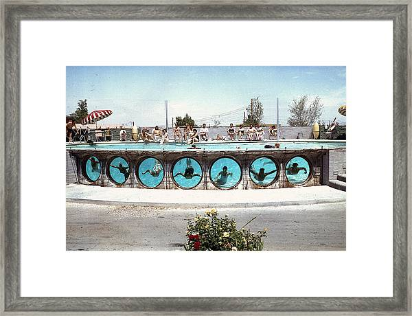 Swimming In Las Vegas Framed Print