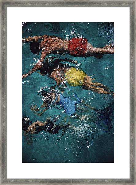 Swimming In The Bahamas Framed Print