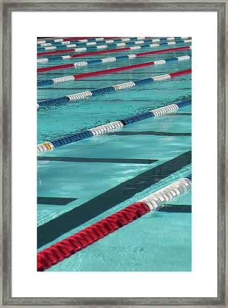 Swimming Lanes Framed Print