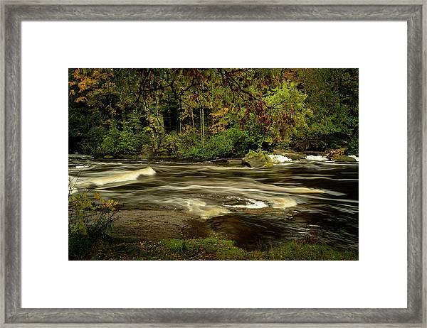 Swirling River Framed Print
