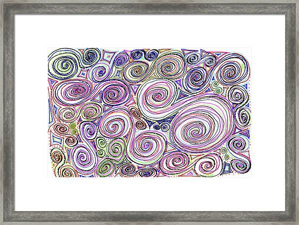 Swirls II Framed Print