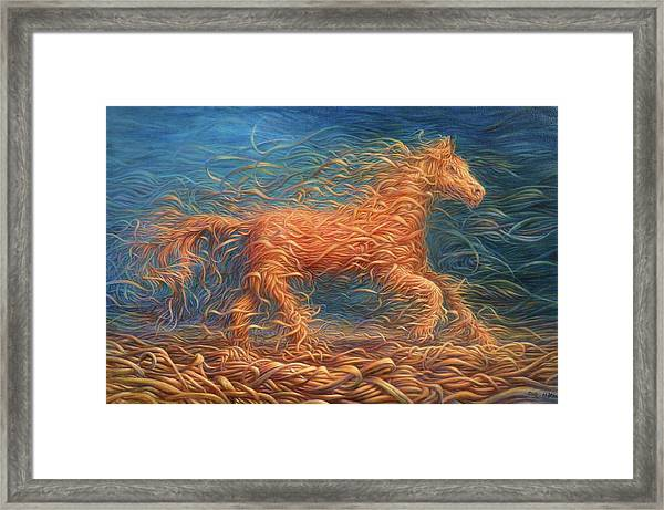 Swirly Horse 1 Framed Print